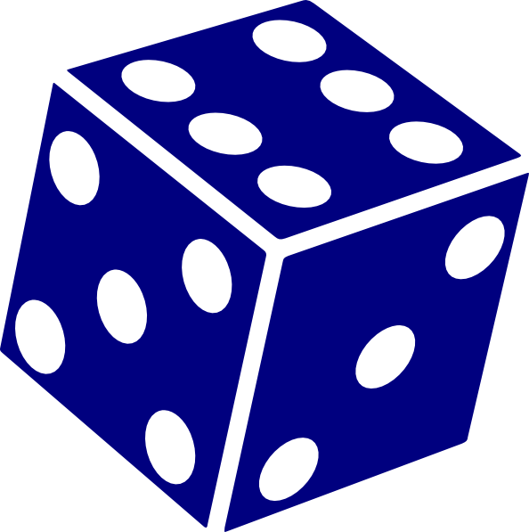 Six Sided Dice clip art - vector clip art online, royalty free ...
