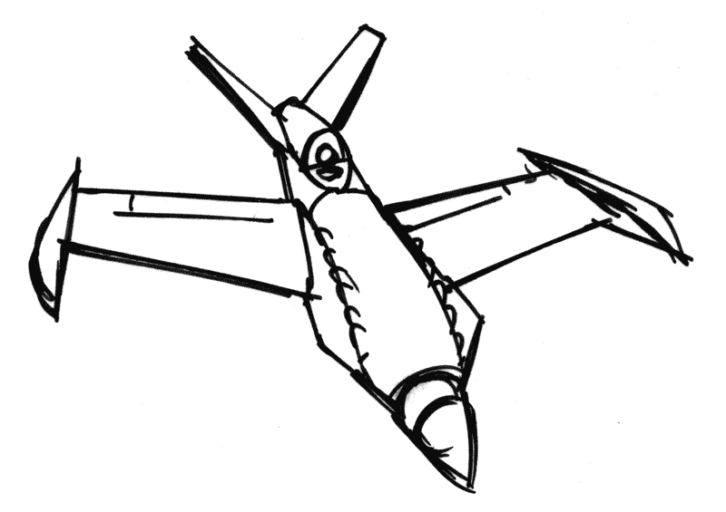 how to draw an airplane easy