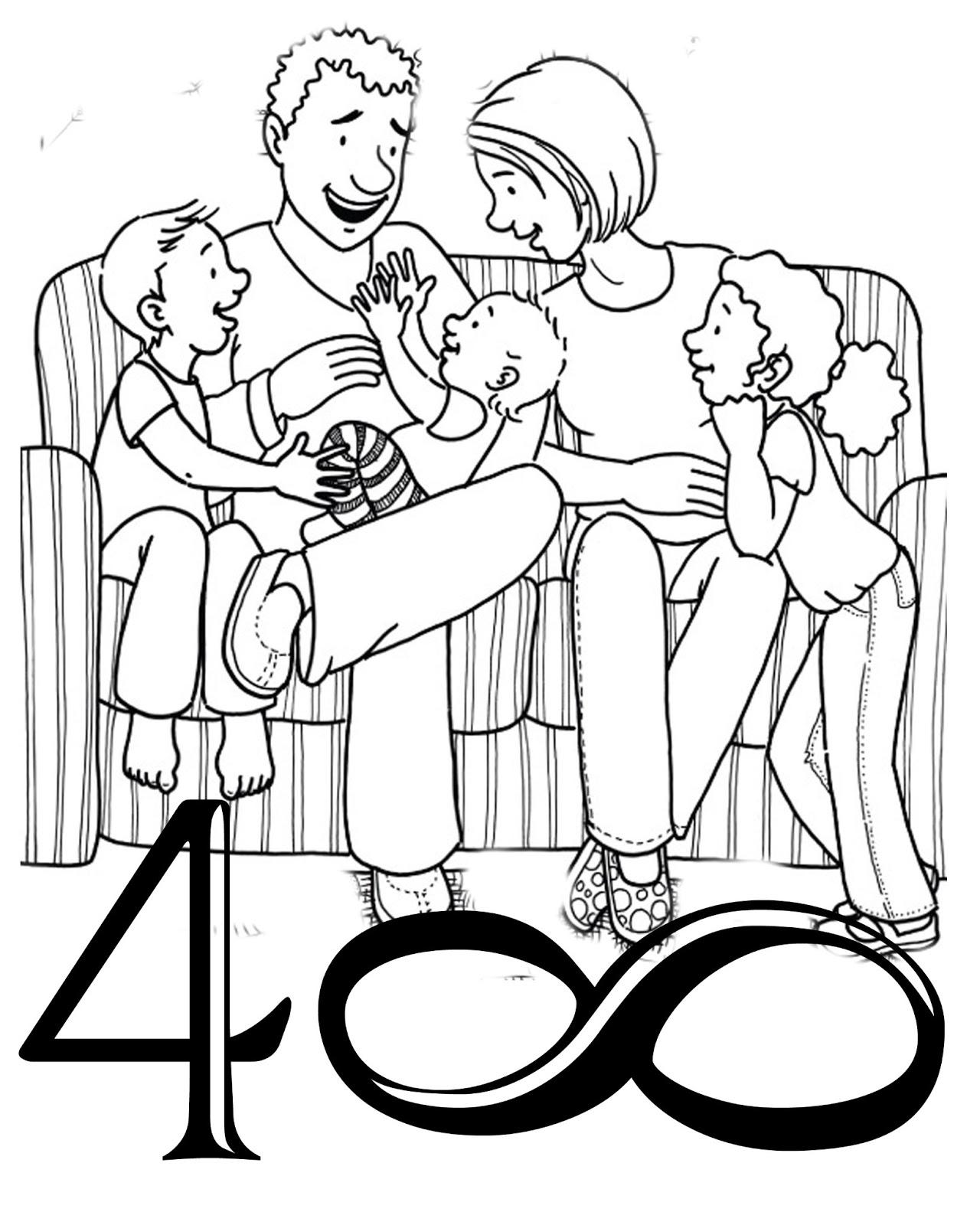 Семья раскраски распечатать