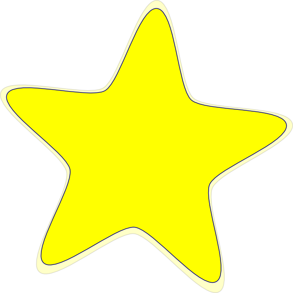 Yellow Star 2 clip art - vector clip art online, royalty free ...