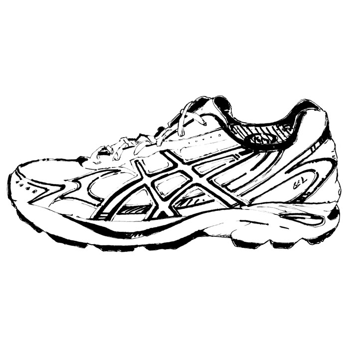 how to draw a running shoe easy