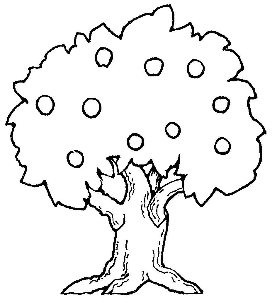 Apple Tree Outline Printable - ClipArt Best