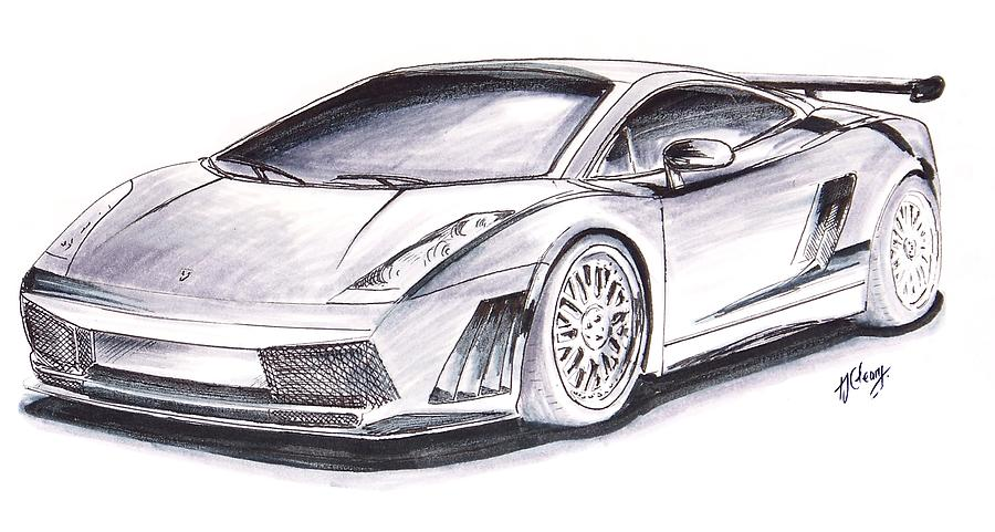 Sports Car Drawing Clipart Best