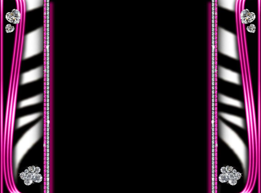 pink leopard print wallpaper border
