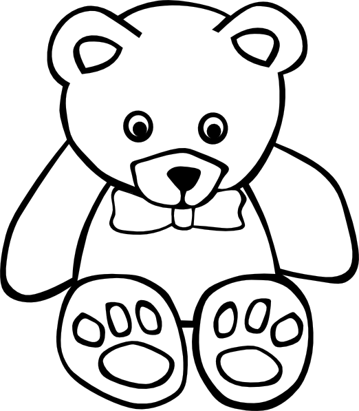 Teddy Bear Outline Clipart - Free Clipart Images
