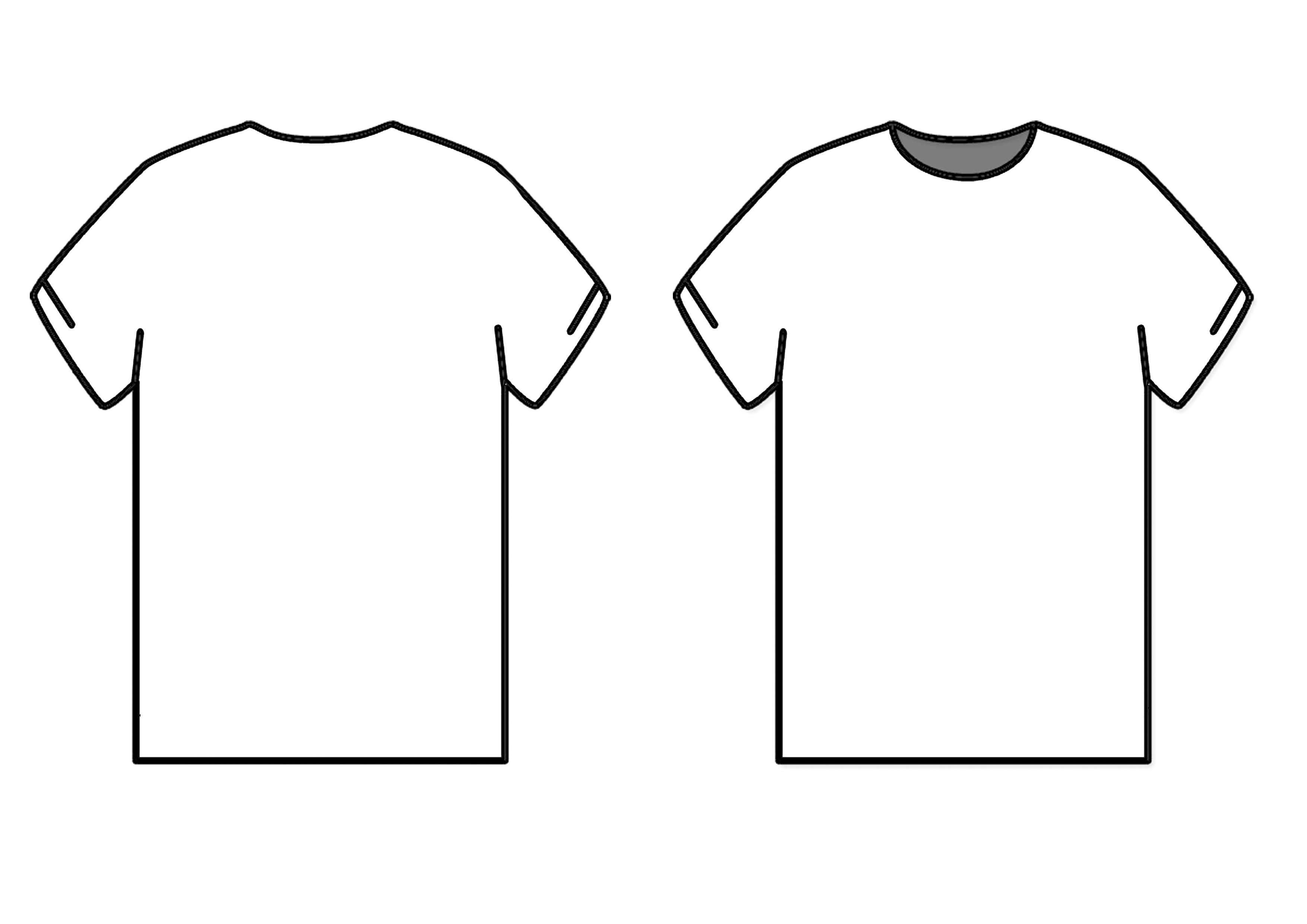 T shirt template back clipart best for Back t shirt template