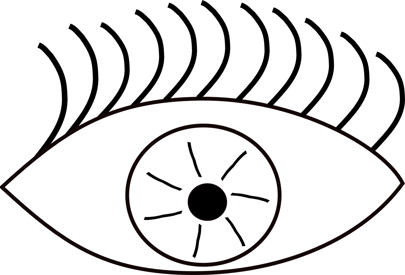 Line Art Eye : Eye clip art black and white clipart best