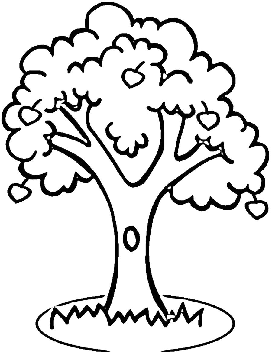 Apple Tree Outline Printable Clipart Best