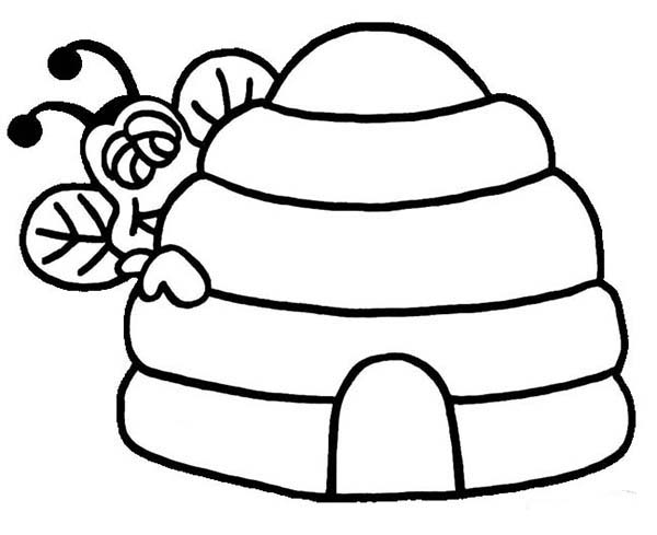 beehive coloring pages | Bee Hive Coloring Page - ClipArt Best