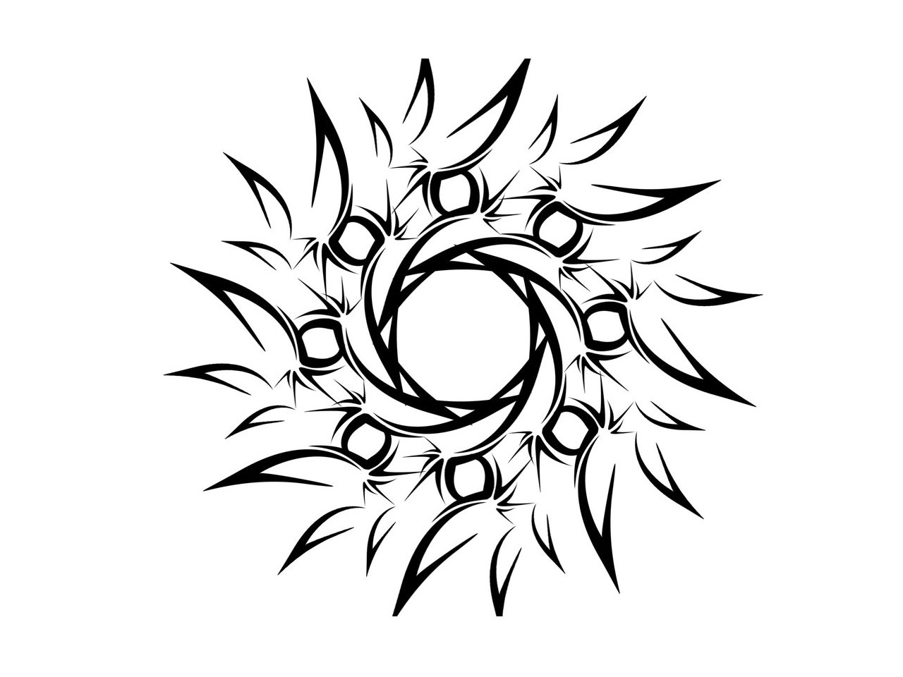 Sun Simple Drawing Sun Number 30186 · Simple