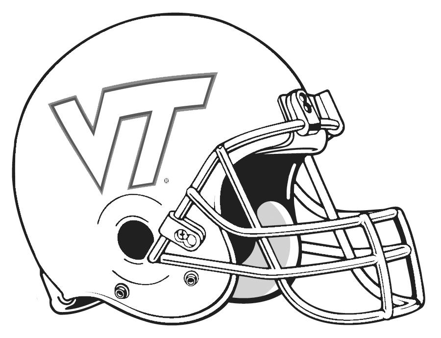 Football Helmet Outline Printable Football Helmet Free Printable