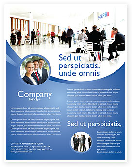 Business Environment Flyer Template, Background in Microsoft Word ...