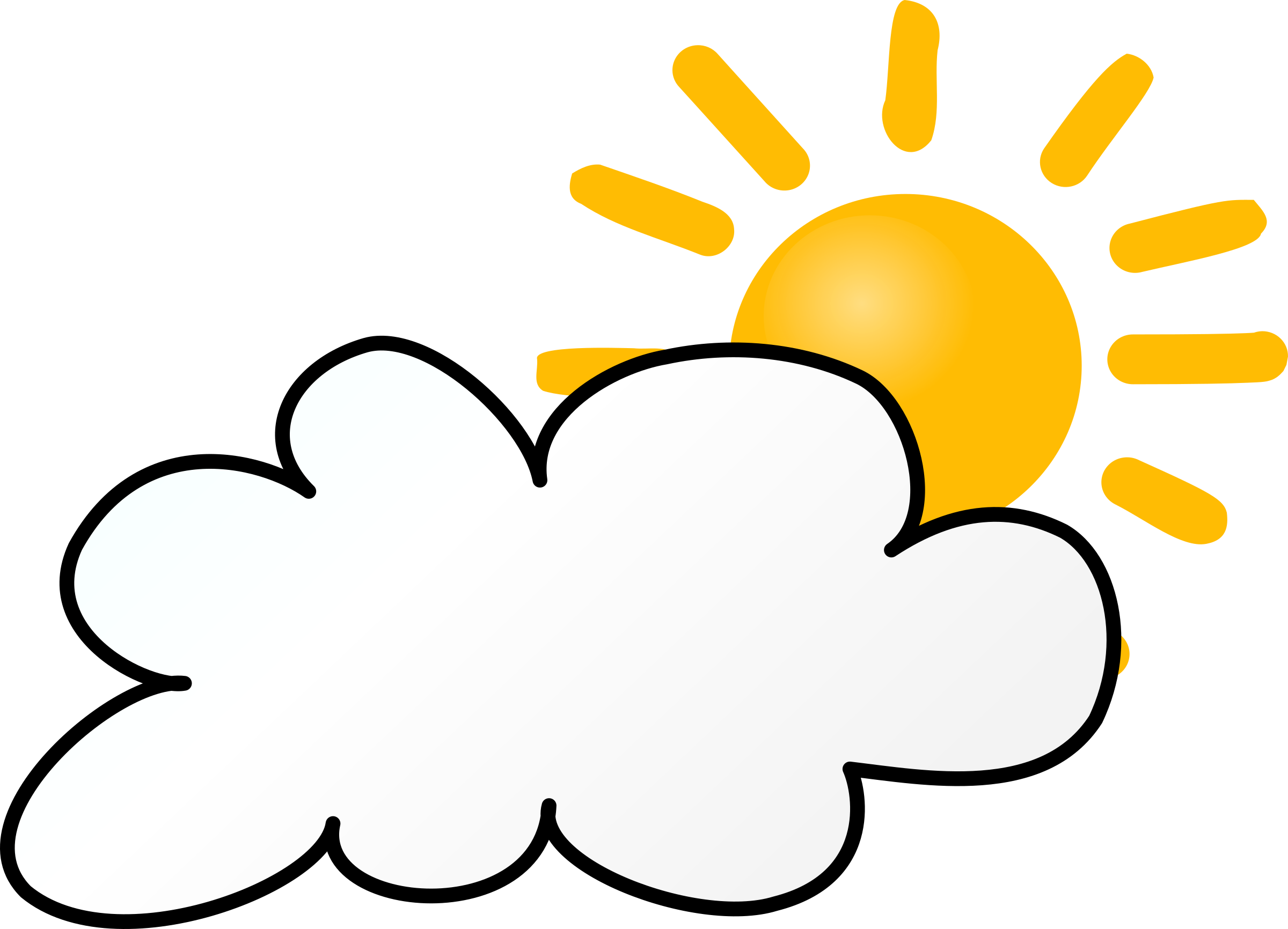 Clipart - Weather Symbols: Cloudy Day