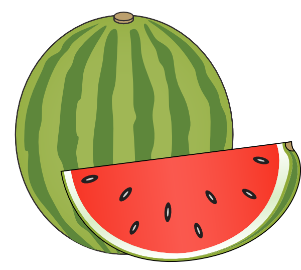 Water Melon Drawings Clipart Best