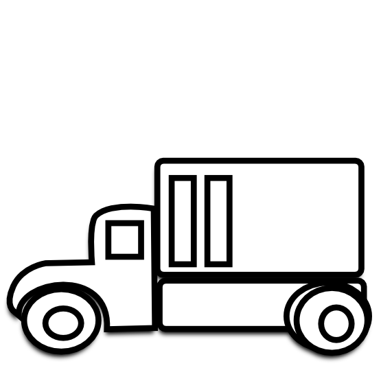 Car and truck clipart black and white