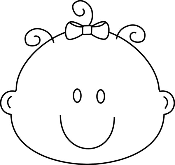 Line Drawing Baby Face : Baby girl drawings clipart best