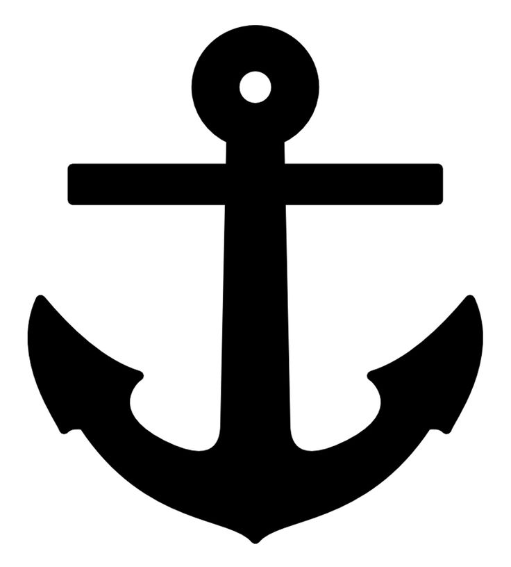 This is an image of Sweet Printable Anchor Template