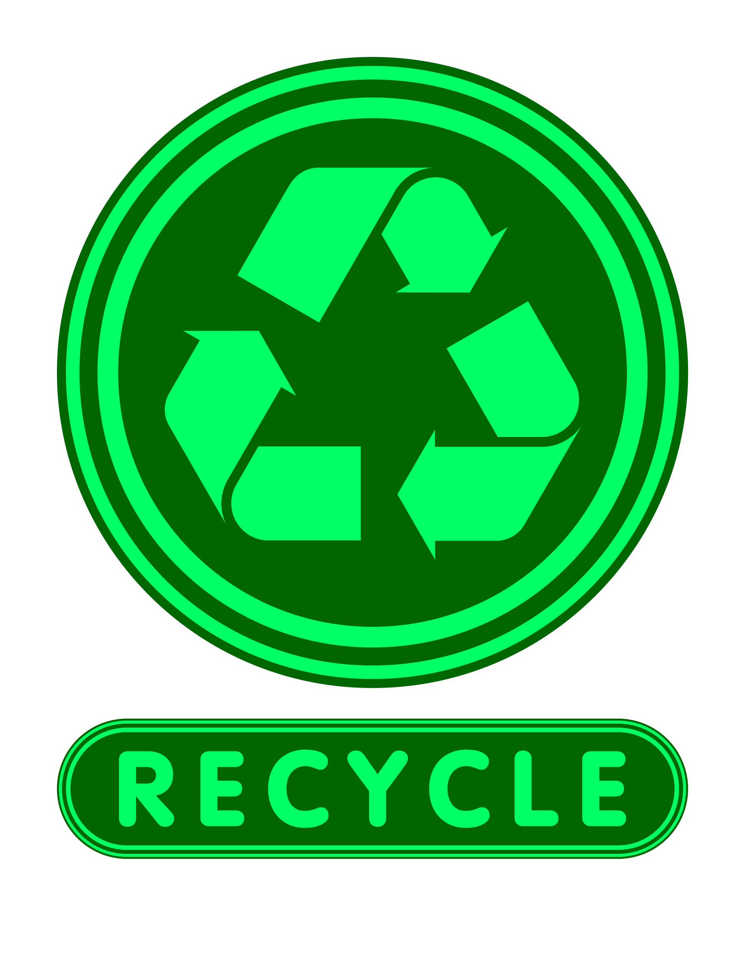 It is an image of Clean Printable Recycling Signs for Bins