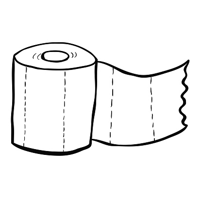 clipart of a toilet paper in black and white clipart best