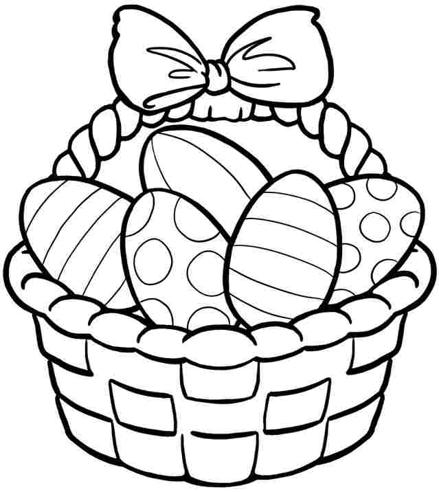 printable easter basket template clipart best