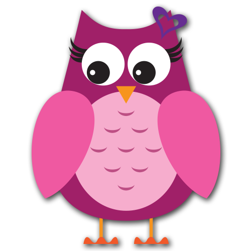 Pink Owl With Bow Clipart - ClipArt Best