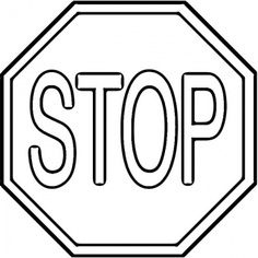 Stop Sign Coloring Sheet Clipart Best Stop Sign Coloring Page