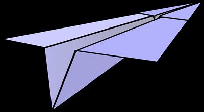 paper plane stock illustration - photo #17