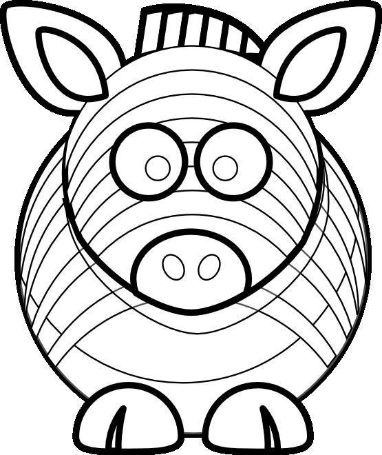 Line Art Vector Design Png : Cartoon zebra black white line art scalable vector