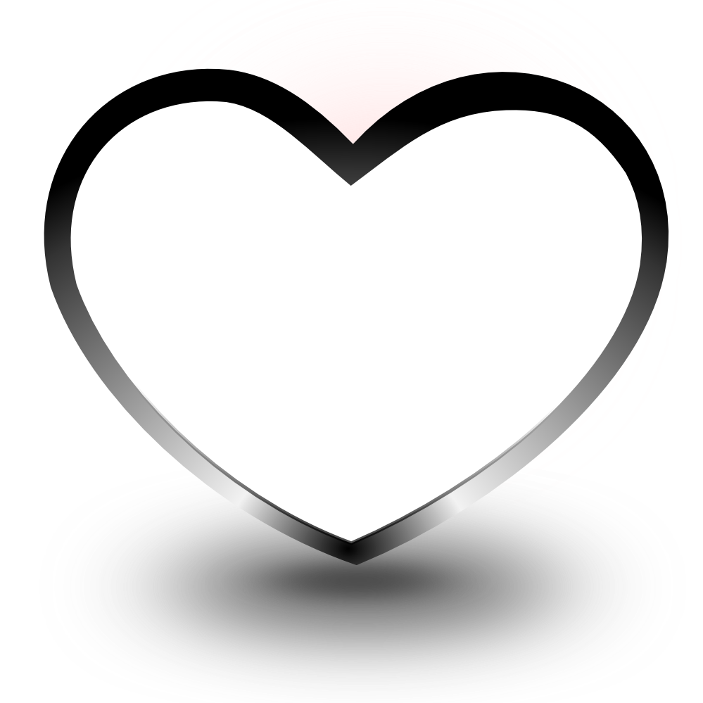 white heart png clipart best