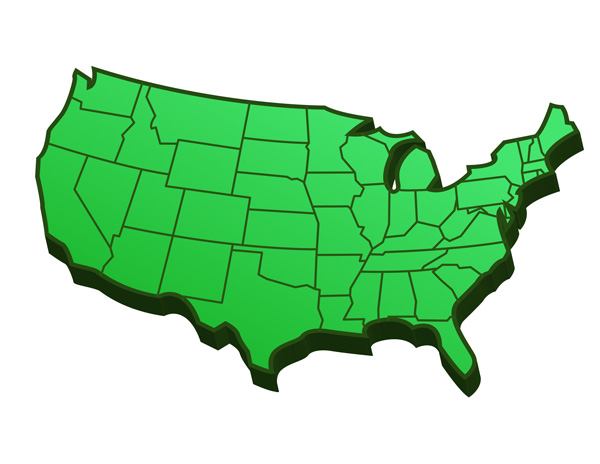 clip art map united states - photo #39