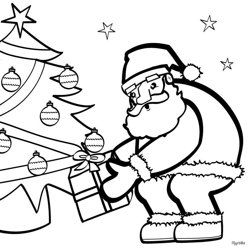 christmas computer coloring pages - photo#15