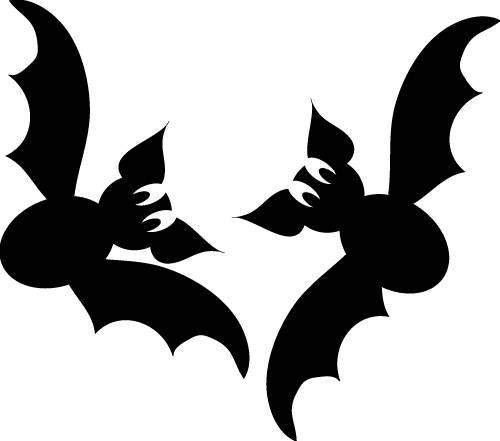 Scary halloween stencil bat pumpkin design clipart for Spooky letter stencils
