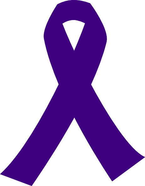 Purple Cancer Ribbon clip art - vector clip art online, royalty ...