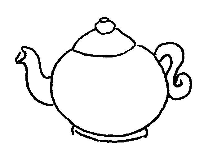 i am a little teapot coloring pages - photo #9