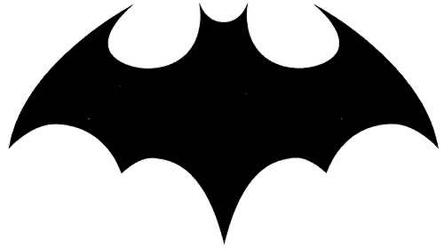 Pin Batman Logo Stencil