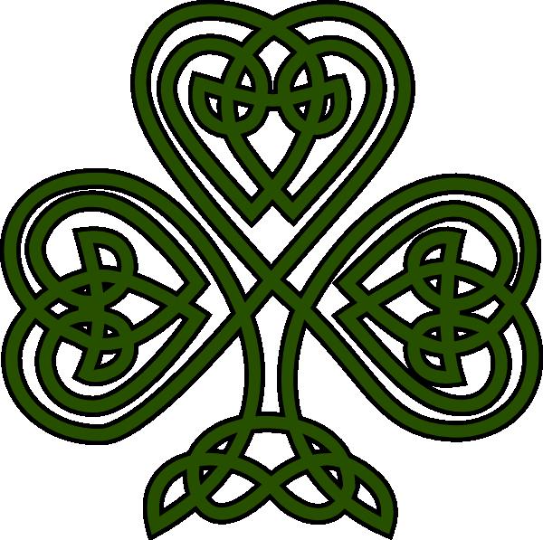 Celtic Shamrock clip art - vector clip art online, royalty free ...