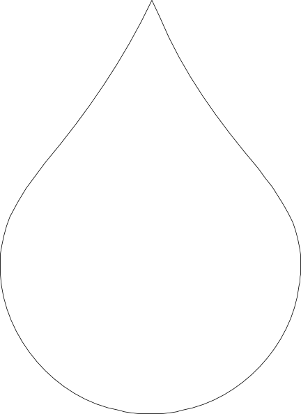 Water Drop Clipart Black And White - ClipArt Best