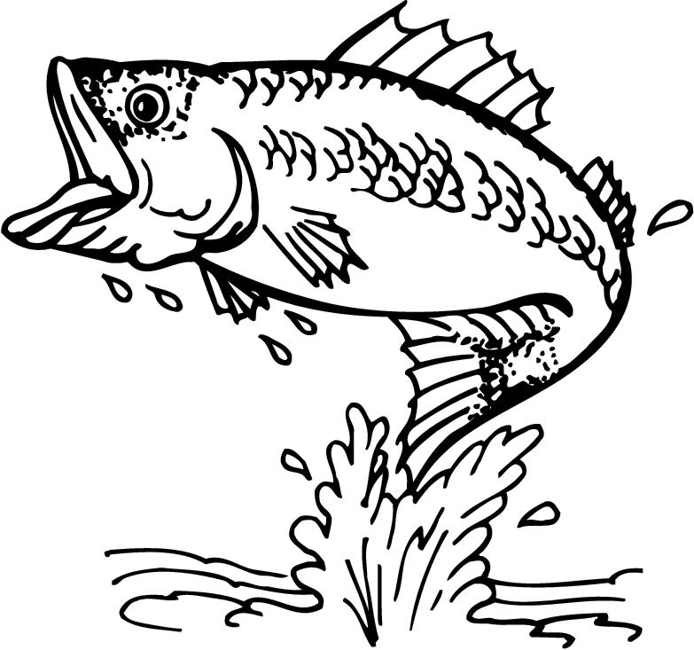 coloring pages of fishing - photo#36