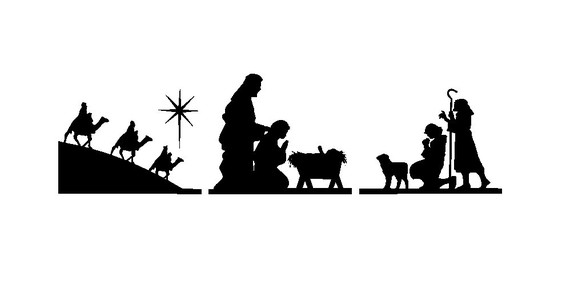 Nativity Silhouette Clip Art Group Picture Image Tag Pictures ...
