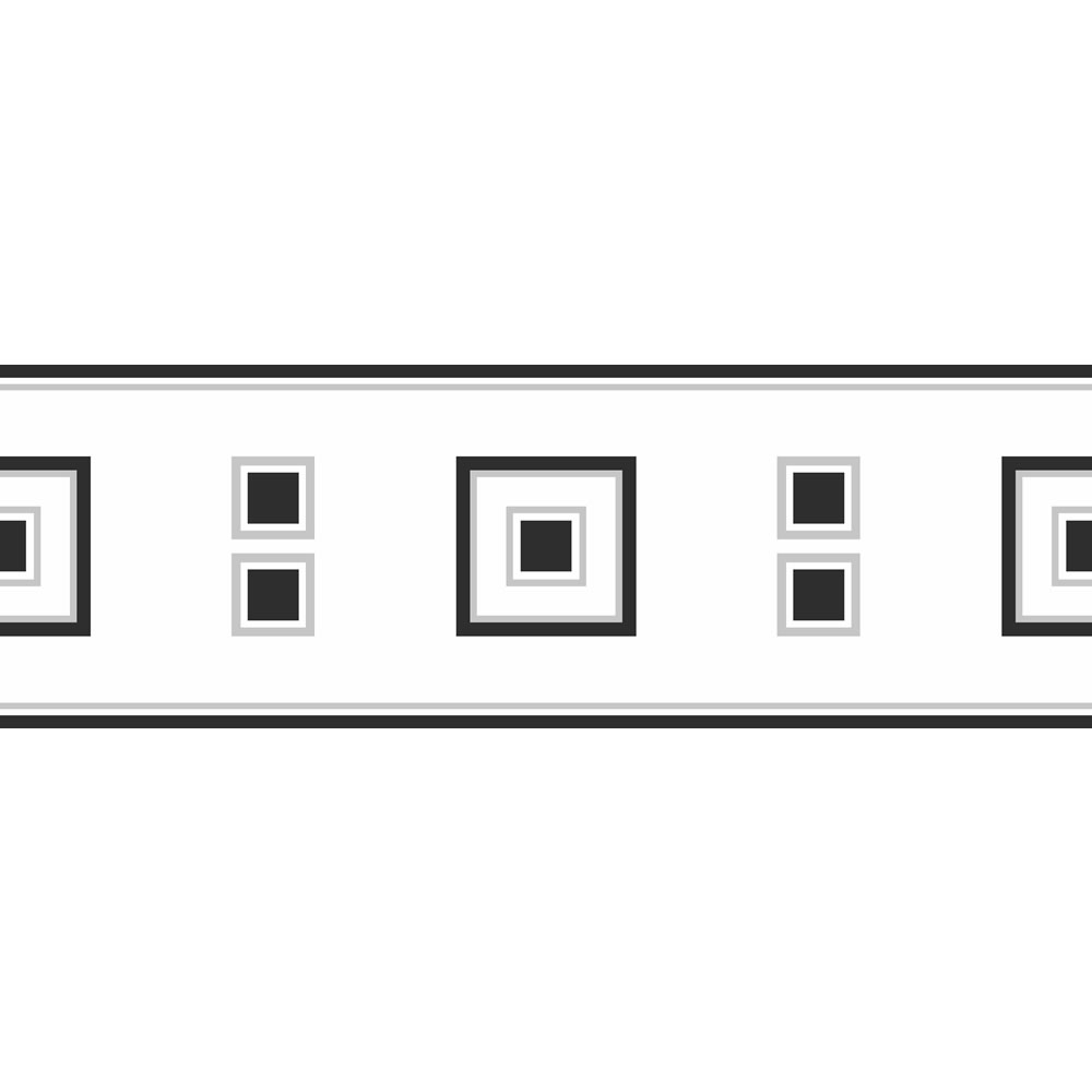 fine decor block brick wallpaper border black white 5mx17