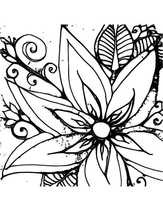 cool flowers coloring pages - photo #11