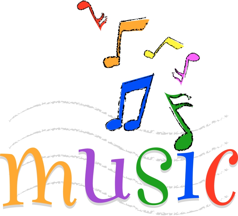 Single Line Word Art : Coloured single music notes clipart best