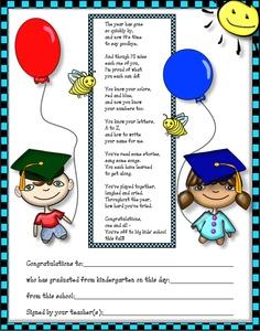 Pre K Graduation Poems - ClipArt Best