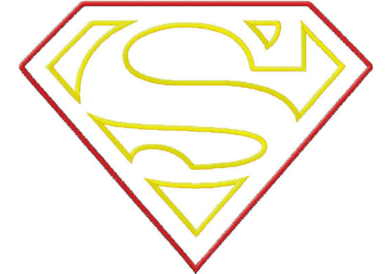 Blank Superman Shield - ClipArt Best
