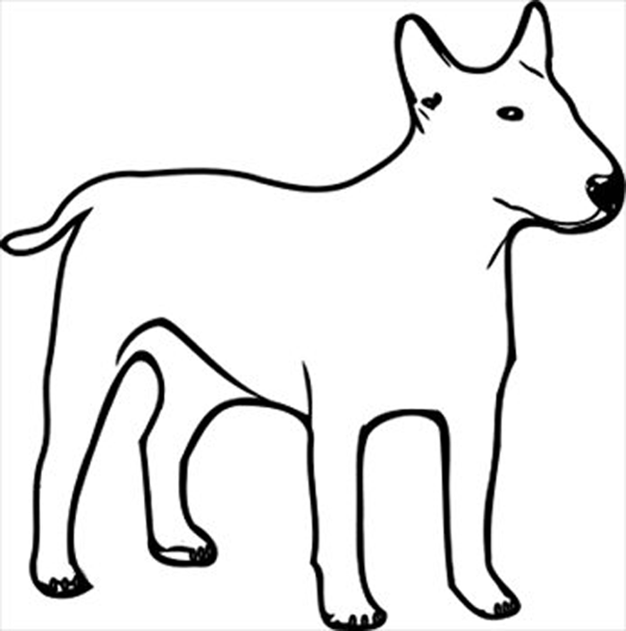 Dogs clip art black and white clipart best for Harry the dirty dog coloring page