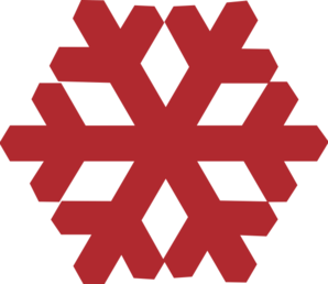 Red Snowflake clip art - vector clip art online, royalty free ...