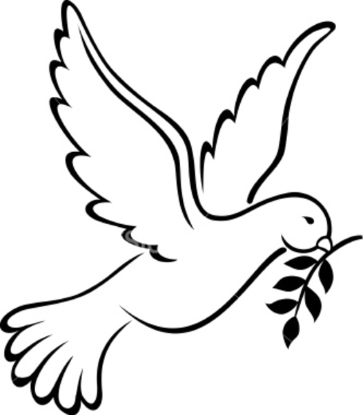 White Doves Drawings Dove Clip Art | Clipart