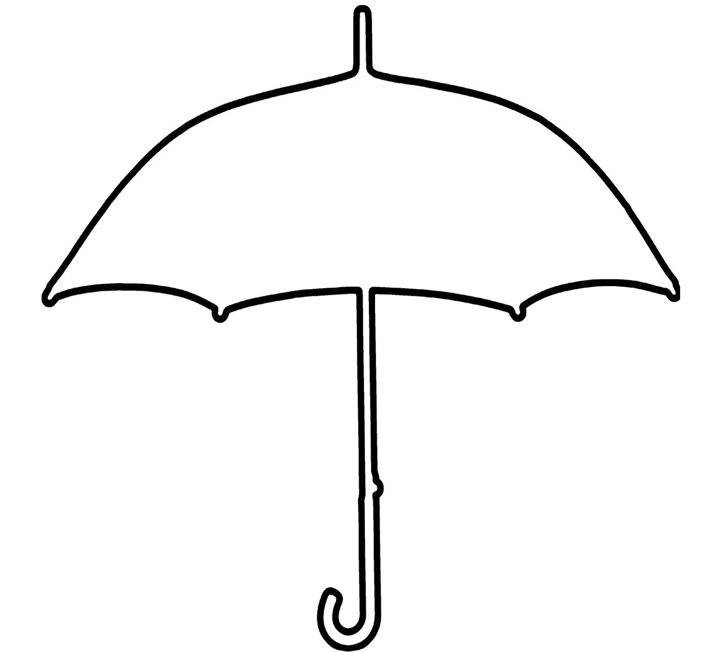 Picture Of Unbrella To Color - ClipArt Best