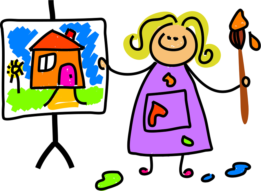 Cartoon child painting clipart best for Craft classes for toddlers