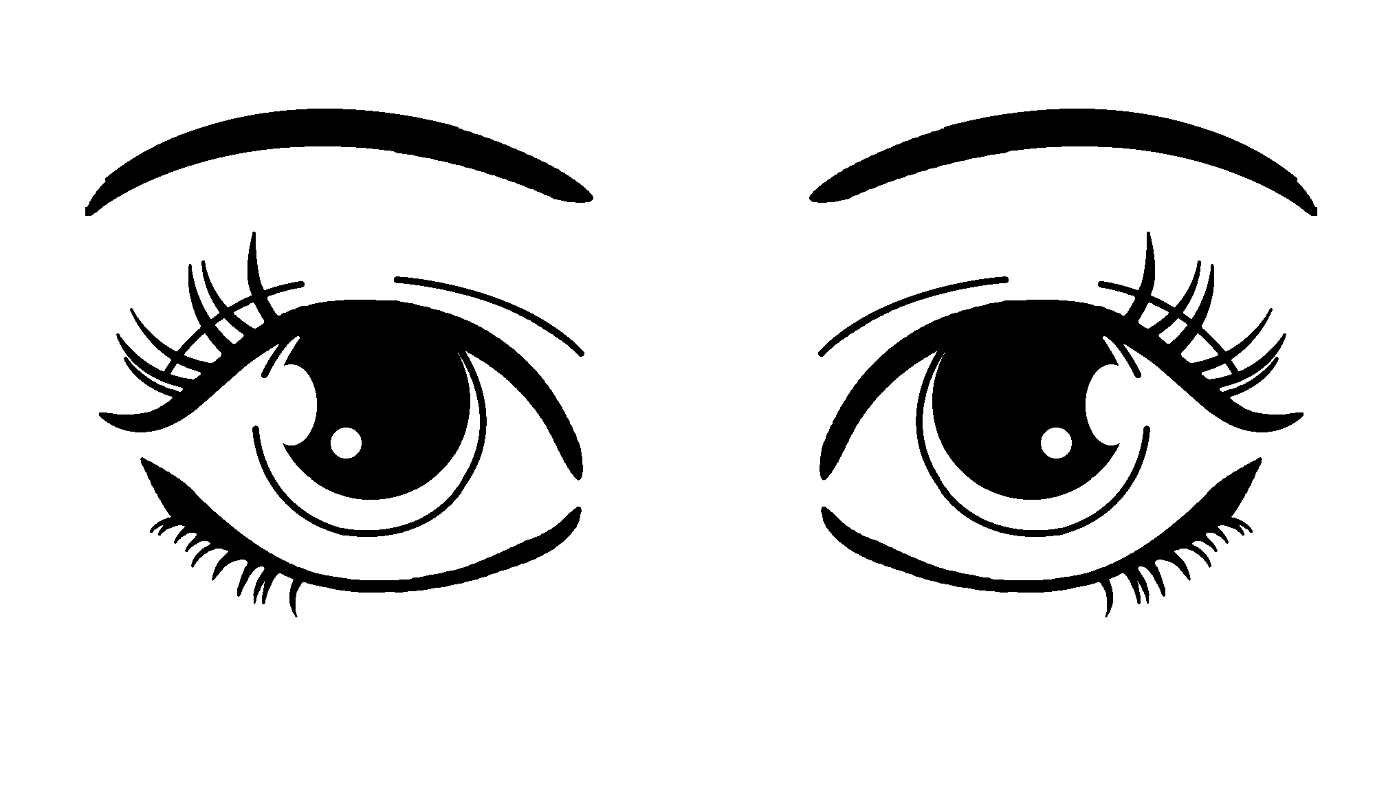 Images Of Eyes Black And White - ClipArt Best